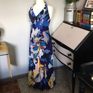 Floral very flowing long dress